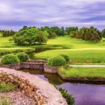 L'un des nombreux terrains de golf de la Dombes