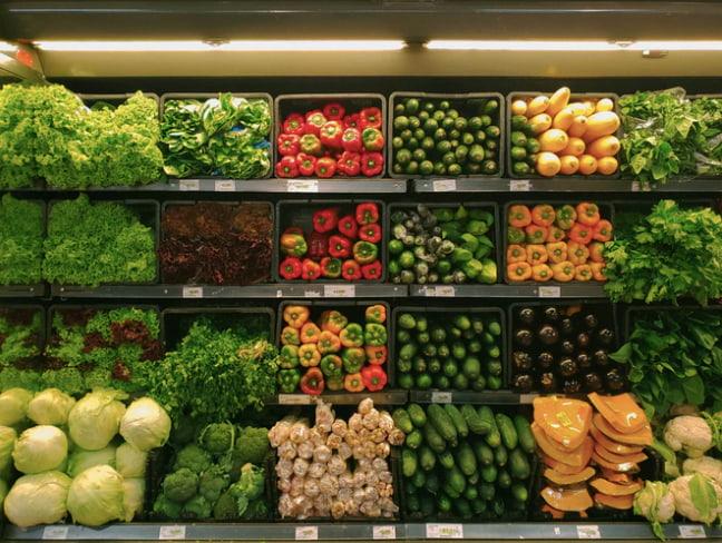 Légumes au supermarché Casino de Chalamont